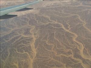 вид с самолета, Egypt, пустыня