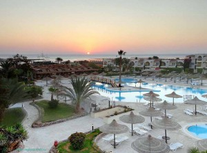 отель, Club Azur Resort, 4*, Макади Бей, Клуб, Красное море, Египет, Makadi Bay, отзыв, утро, восход, ресторан