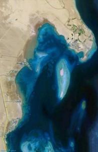 вид со спутника, побережье Хургады, Soma Bay, Egypt, Красное море