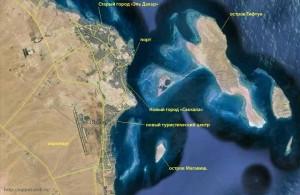 Hurgada, Арабская Республика Египет, спутниковая карта