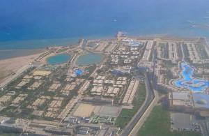 Отдых в Египте Хургада, город, Красное море, с птичьего полёта, Миср, АРЕ, Egypt
