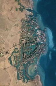 El Gouna, вид со спутника, Арабская Республика Египет, Red Sea