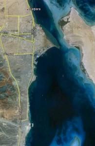 город Сафага, вид со спутника, Арабская Республика Египет, отдых в Египте Хургада, Red Sea