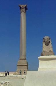 колонна Помпея, курорт Александрия, город, АРЕ, Египет, древняя история
