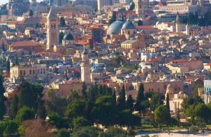 панорама города, вид на храм Гроба Господня, Jerusalem, святые места, туризм, Izrail, путешествия