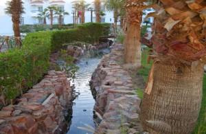 Дримс Бич Ресорт 5, отзыв, отдых в Египте, 5 звезд, отель, территория отеля, речка