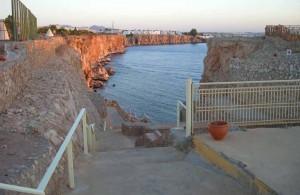 Стена Фараонов, спуск на пляж, Дримс Бич Ресорт 5, отзыв, 5 звезд, отель, отдых в Египте,