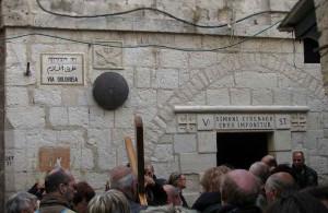 Перекресток улицы Эль-Вад с Виа Долороса, Izrail, Дорога скорби, Крестный Путь, туризм, путешествия