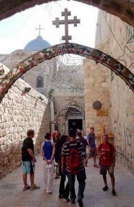 Третье падение, Коптская Церковь, капелла святой Елены, Виа Долороса, Крестный Путь, туризм, Дорога скорби, Izrail, путешествия