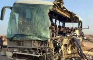 Дорожно-транспортное происшествие, водитель одного из автобусов уснул за рулём, авария, автомобильная трасса, Египет, статистика, Синайский полуостров