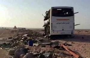 Ночное ДТП в Египте, 22 августа 2014, автомагистраль Эль-Тор - Шарм-Эль-Шейх, шоссе, смерть на дорогах, лобовое столкновение автобусов, Синай, egipet-web.ru, расследование