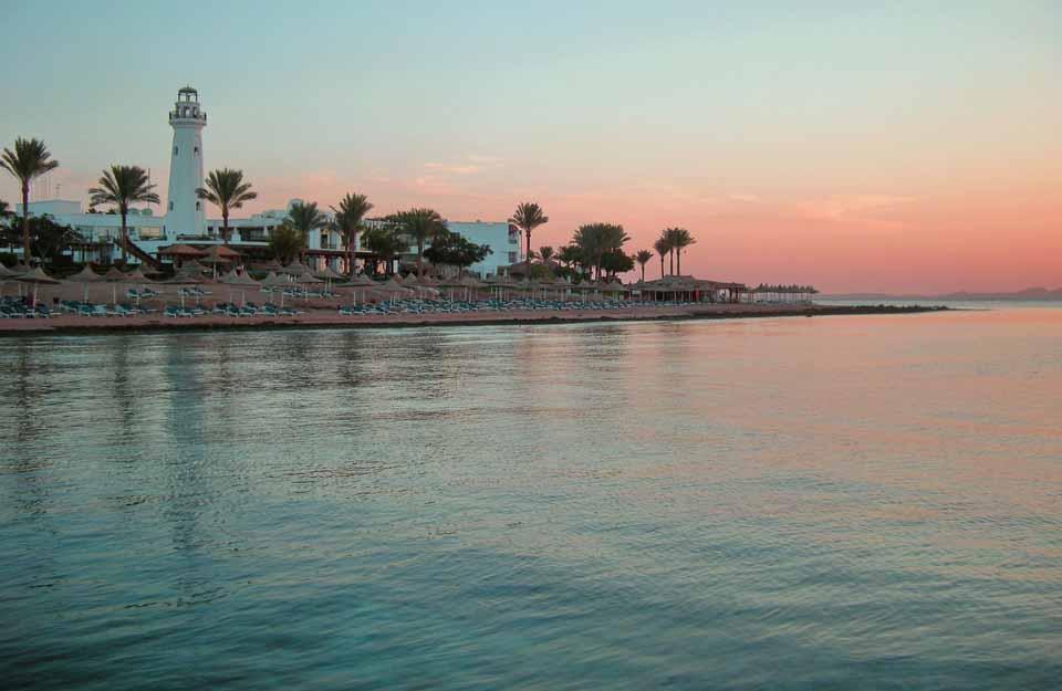 смотровая башня, рассвет, отель Мелиа Синай, вид с понтона, отзыв об отдыхе, курорт Шарм