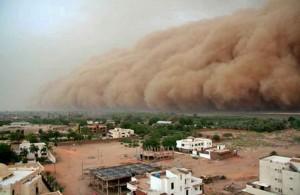 Пыльная буря на Ближнем Востоке, стихия, Египет, погода