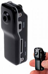Минивидеокамера для шпионских целей, MicroSD до 64 GB, размеры 49x13x17 мм