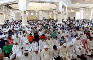 пост Рамадан, Египет, молитва в мечети