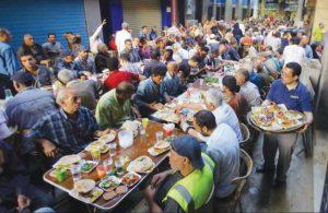 Ифтар. Большой стол от меценатов. Рамадан в Египте.